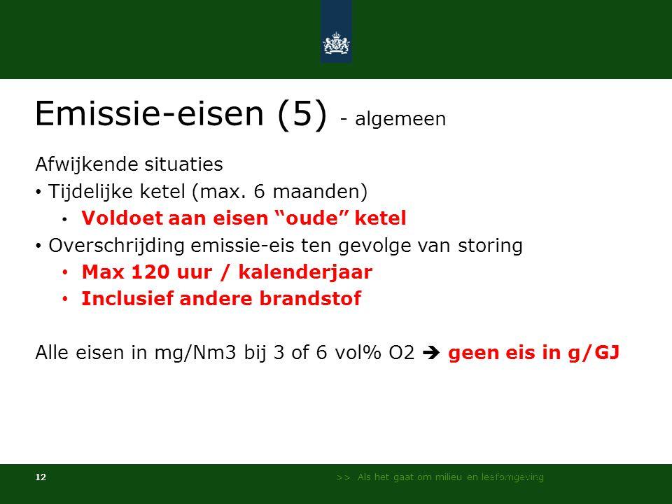 Emissie-eisen (5) - algemeen