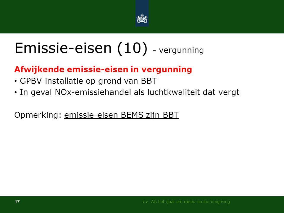 Emissie-eisen (10) - vergunning