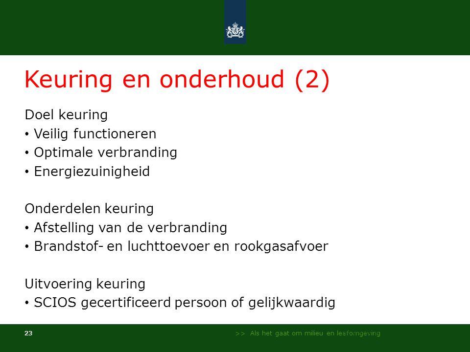 Keuring en onderhoud (2)