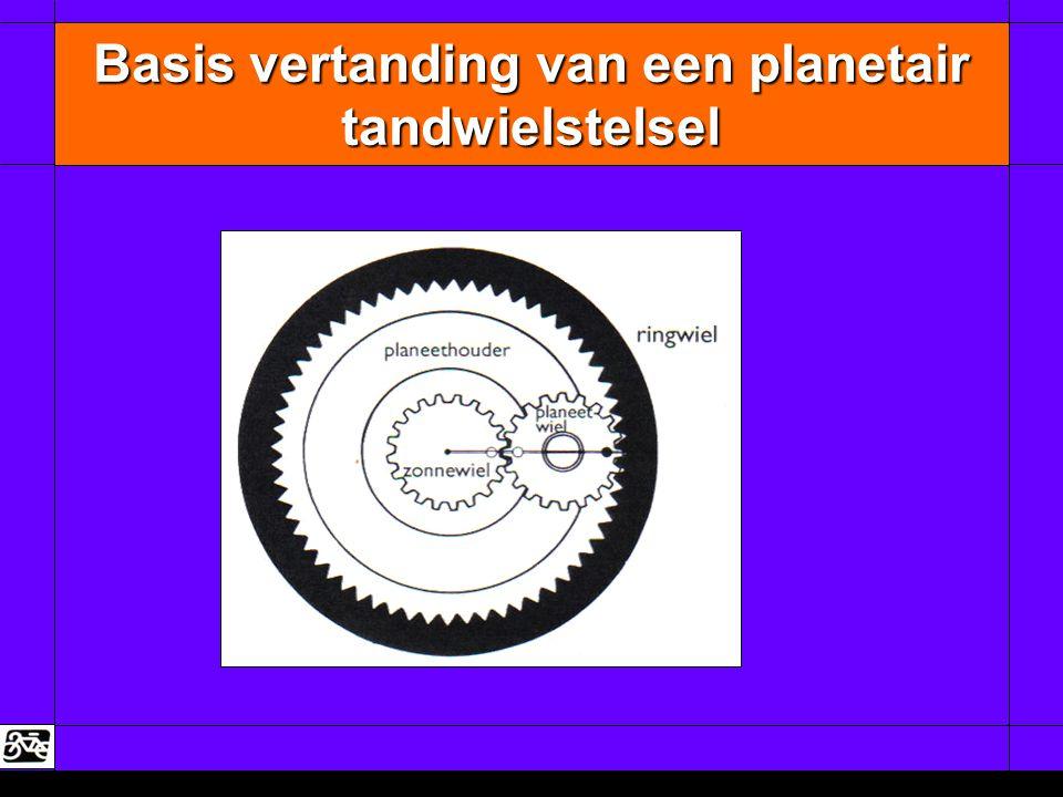 Basis vertanding van een planetair tandwielstelsel