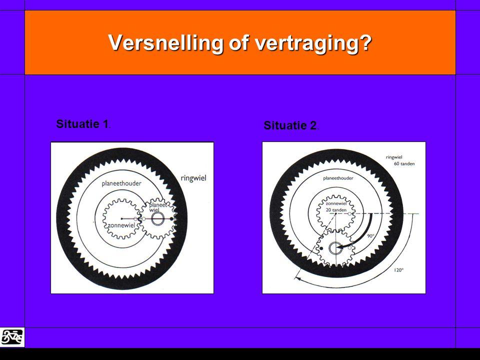 Versnelling of vertraging