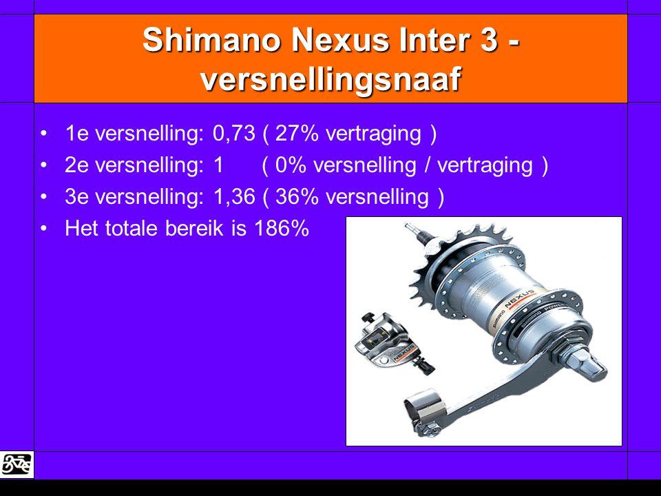 Shimano Nexus Inter 3 - versnellingsnaaf