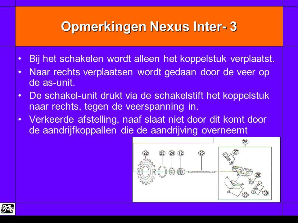 Opmerkingen Nexus Inter- 3