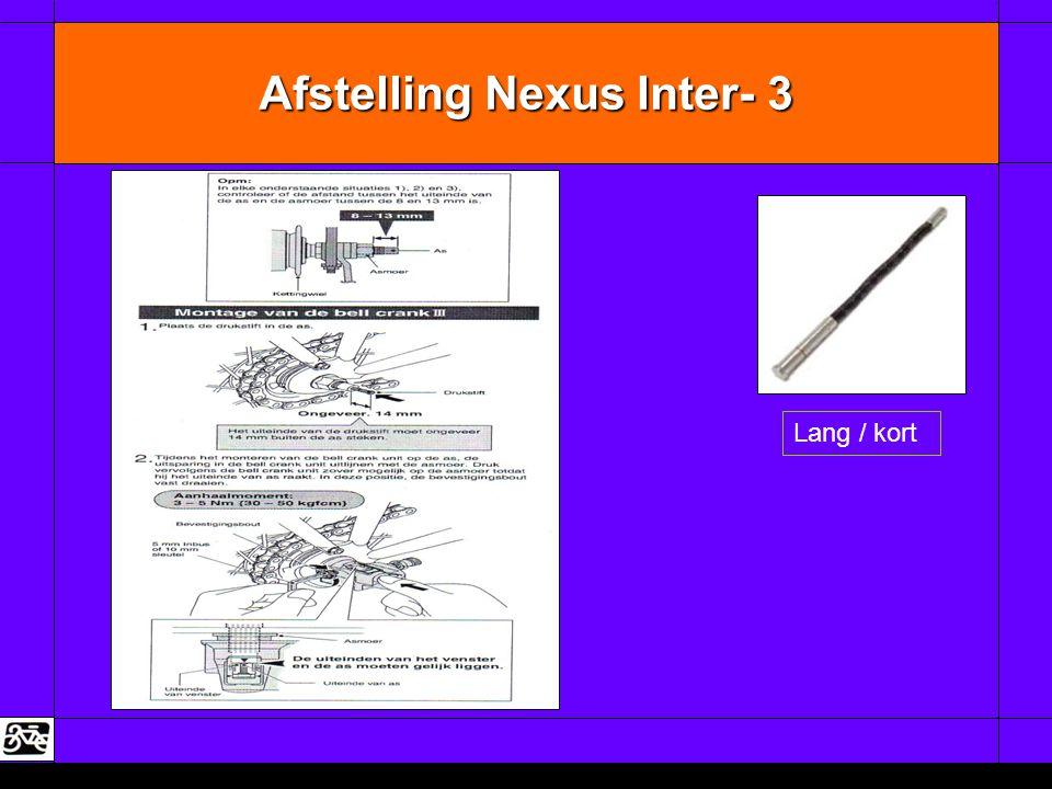 Afstelling Nexus Inter- 3