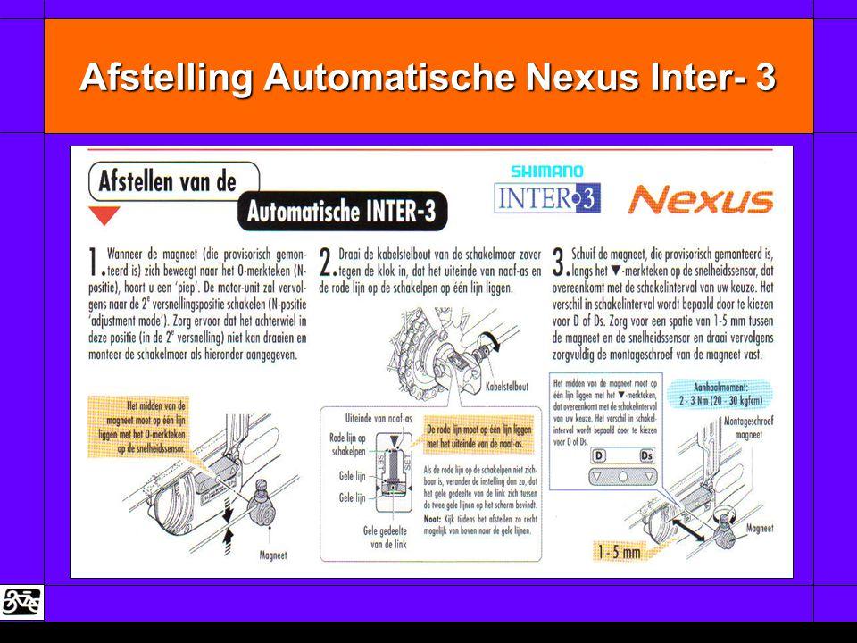 Afstelling Automatische Nexus Inter- 3
