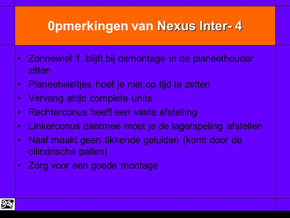 0pmerkingen van Nexus Inter- 4