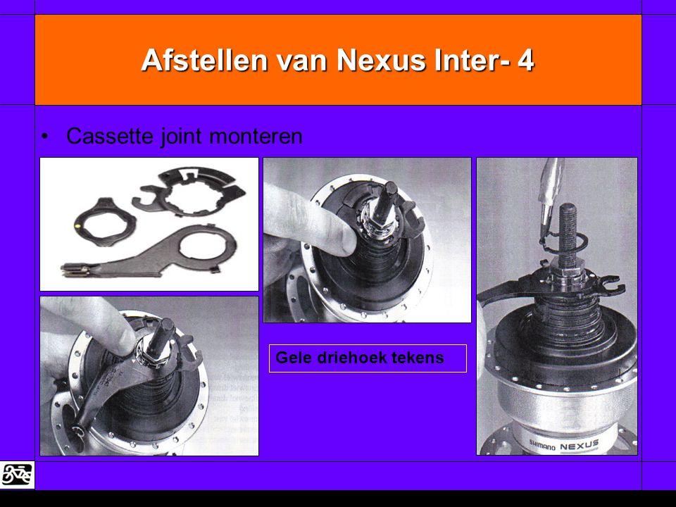 Afstellen van Nexus Inter- 4