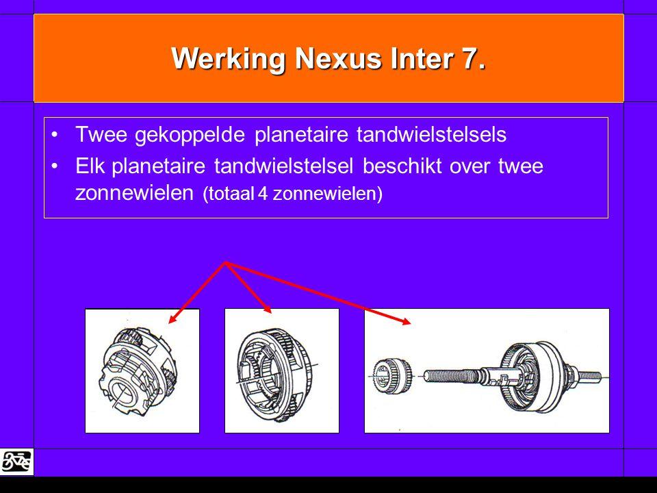 Werking Nexus Inter 7. Twee gekoppelde planetaire tandwielstelsels