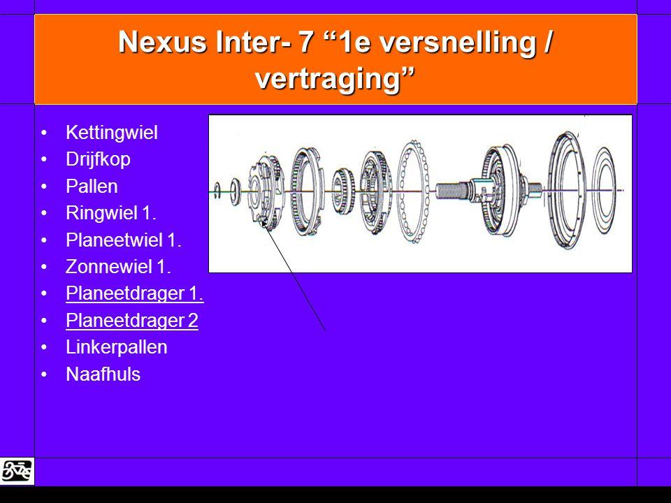 Nexus Inter- 7 1e versnelling / vertraging