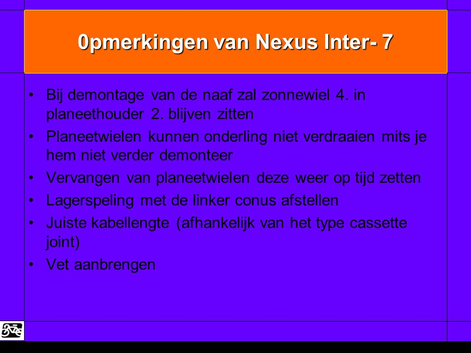 0pmerkingen van Nexus Inter- 7
