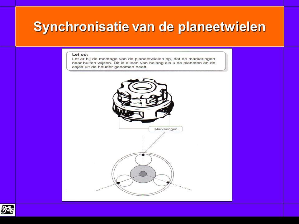 Synchronisatie van de planeetwielen
