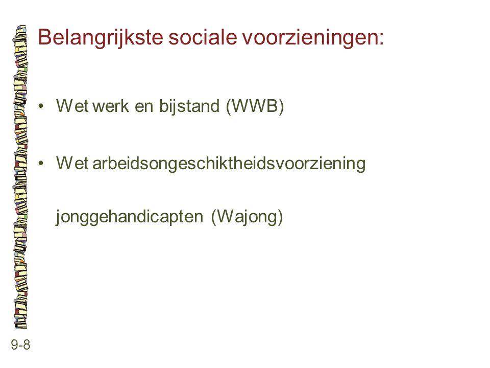 Belangrijkste sociale voorzieningen: