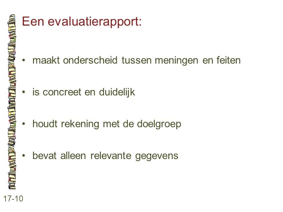 Een evaluatierapport: