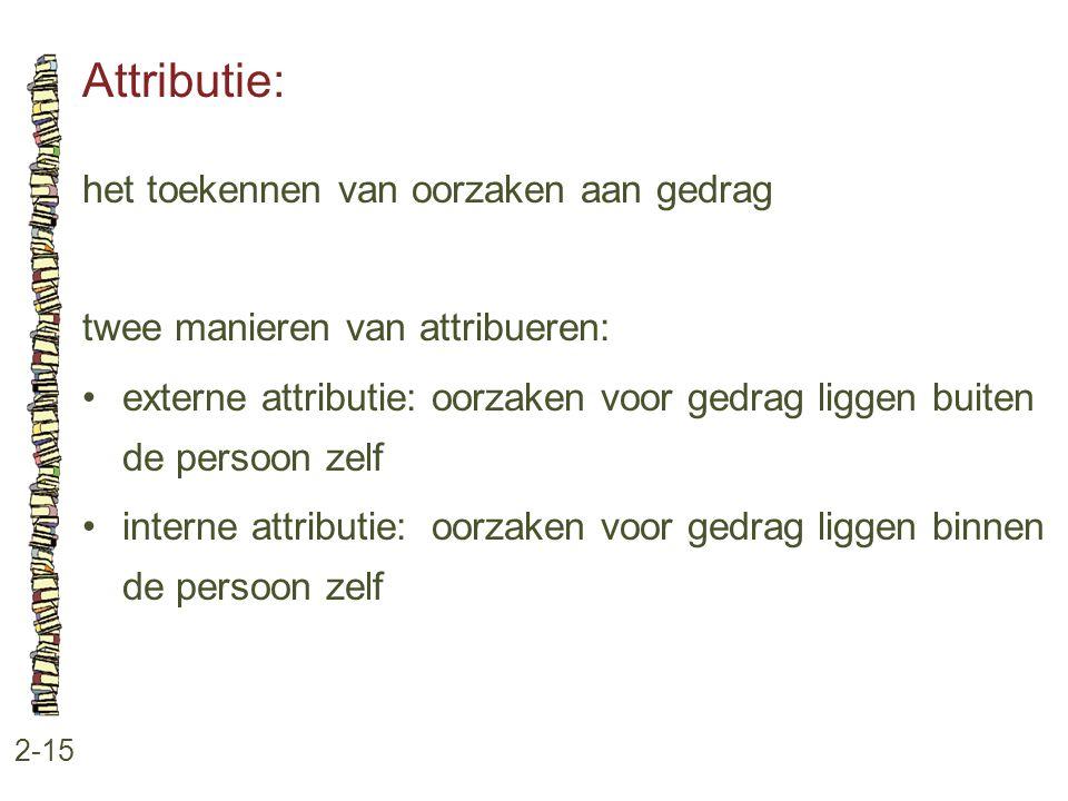 Attributie: het toekennen van oorzaken aan gedrag