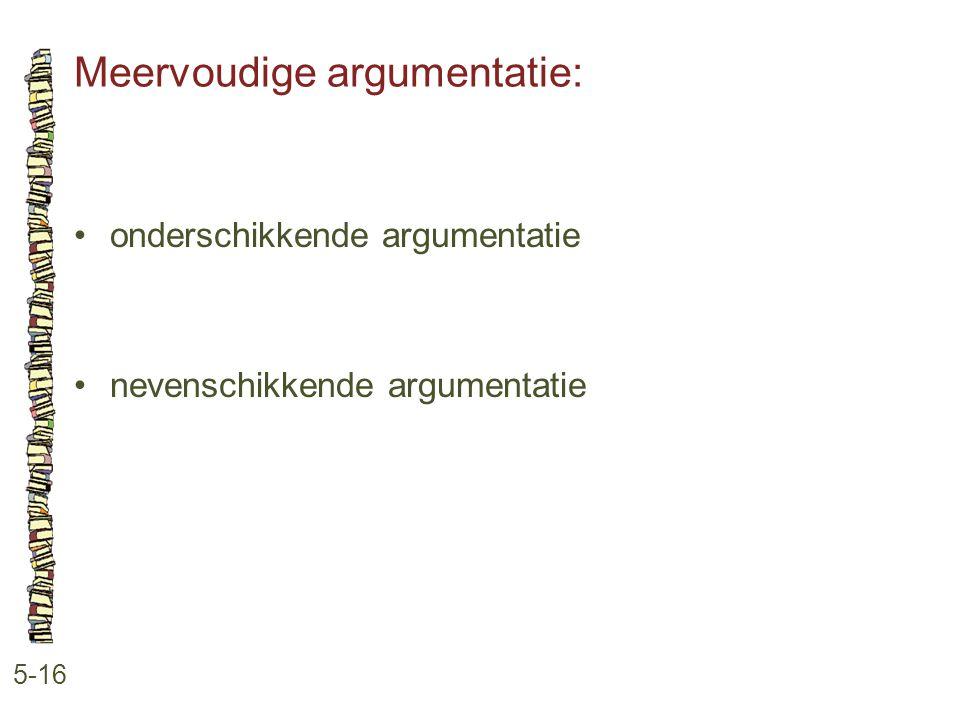 Meervoudige argumentatie: