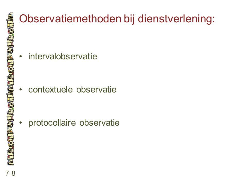 Observatiemethoden bij dienstverlening: