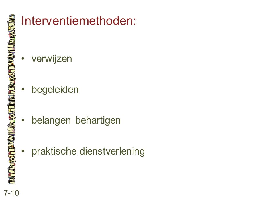 Interventiemethoden: