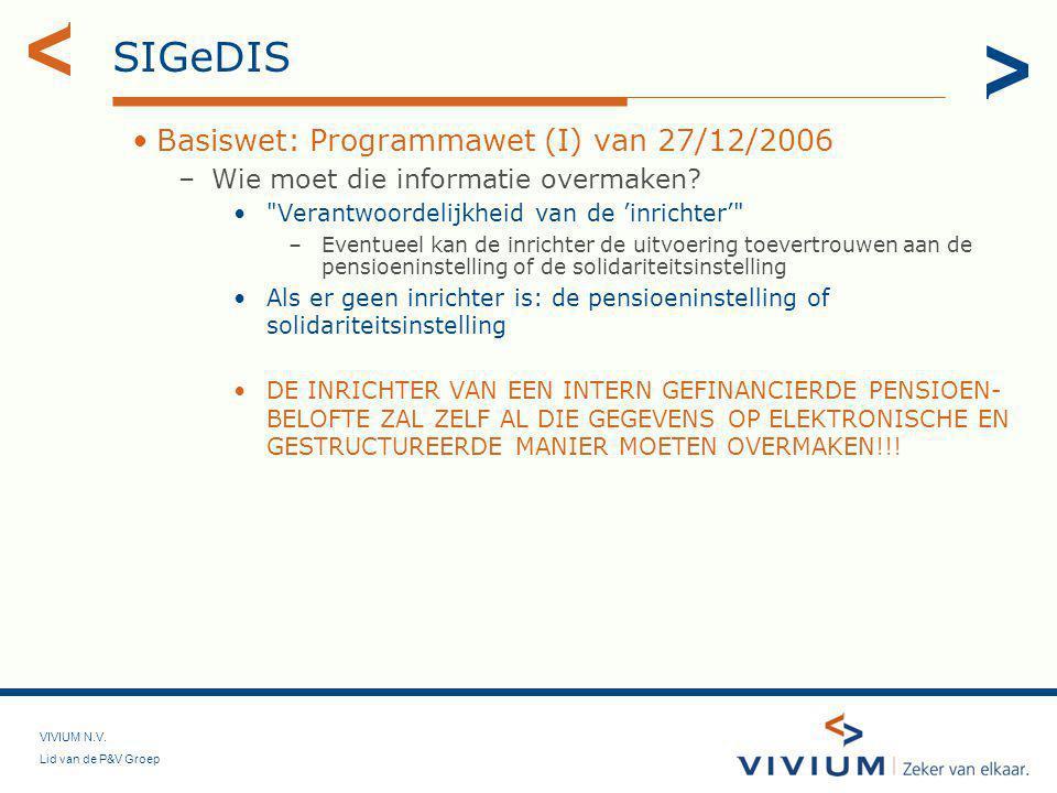 SIGeDIS Basiswet: Programmawet (I) van 27/12/2006