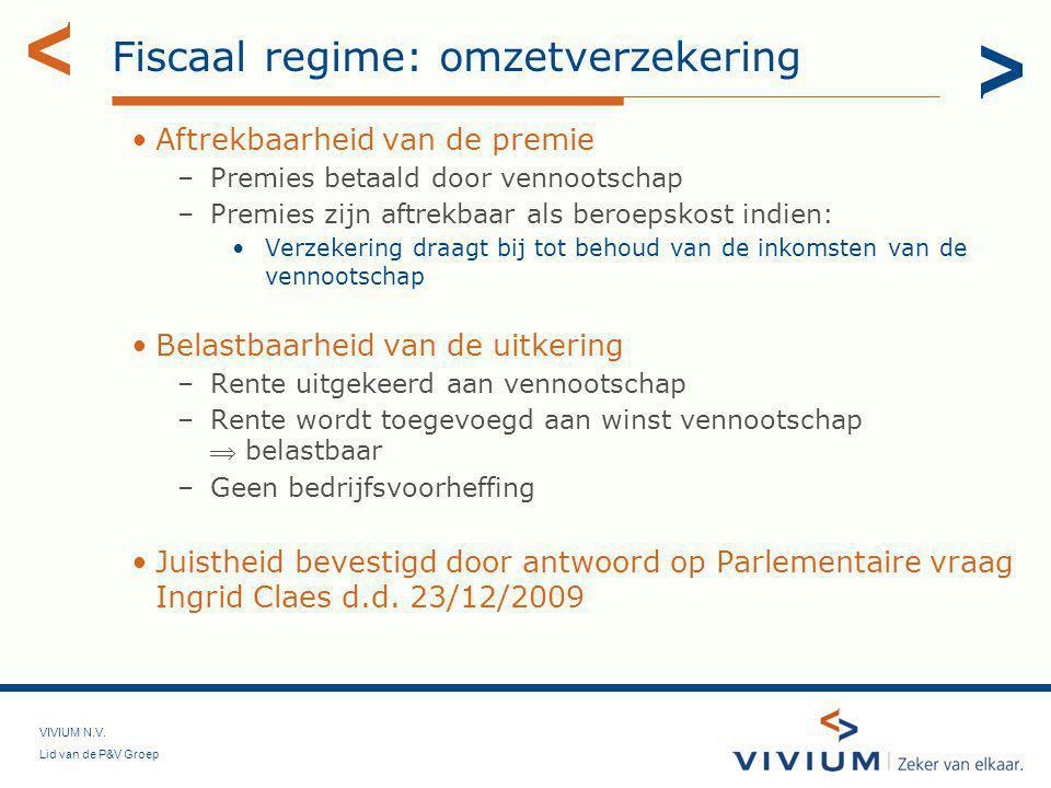 Fiscaal regime: omzetverzekering