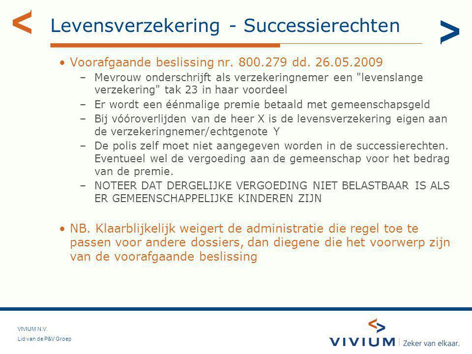Levensverzekering - Successierechten