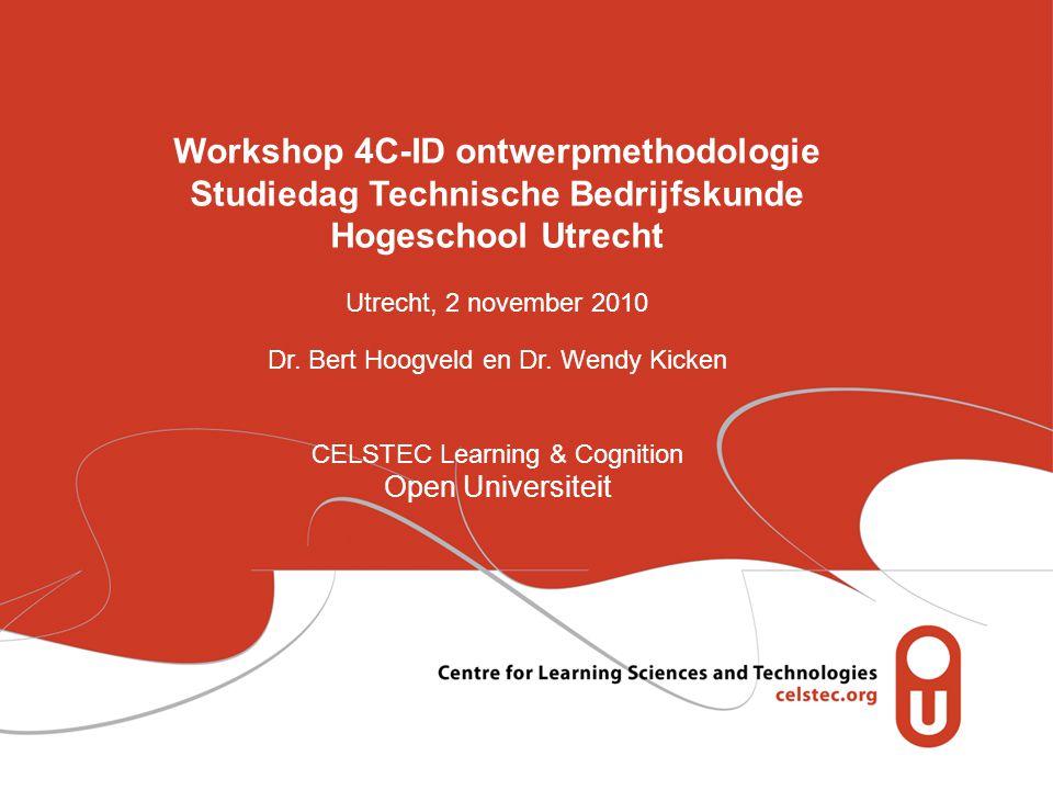 Workshop 4C-ID ontwerpmethodologie Studiedag Technische Bedrijfskunde