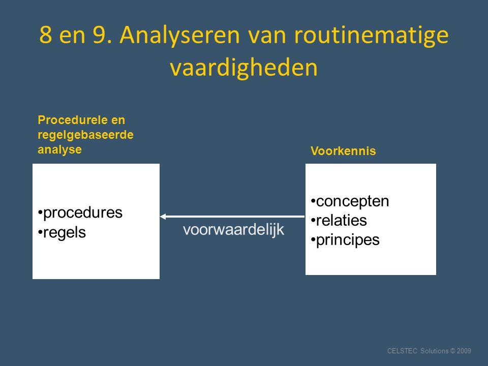8 en 9. Analyseren van routinematige vaardigheden