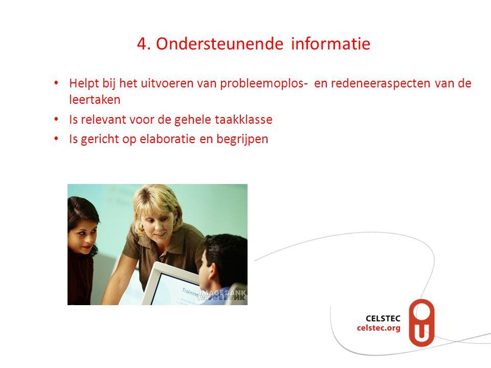 4. Ondersteunende informatie