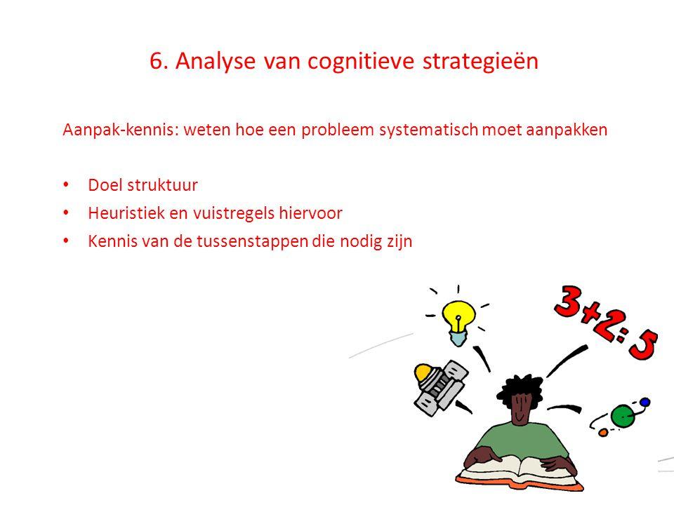 6. Analyse van cognitieve strategieën