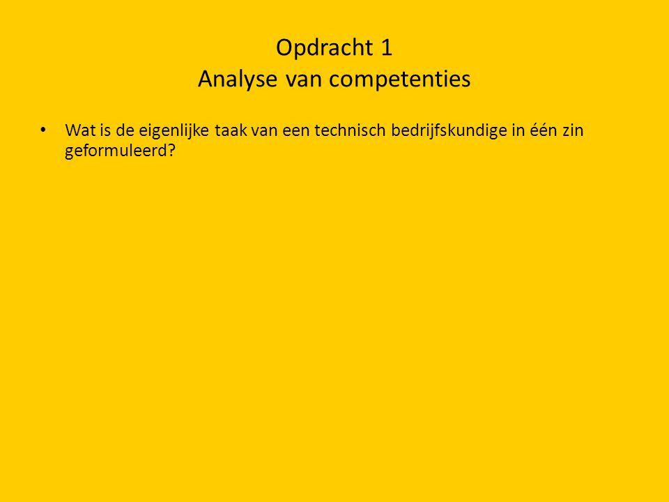 Opdracht 1 Analyse van competenties