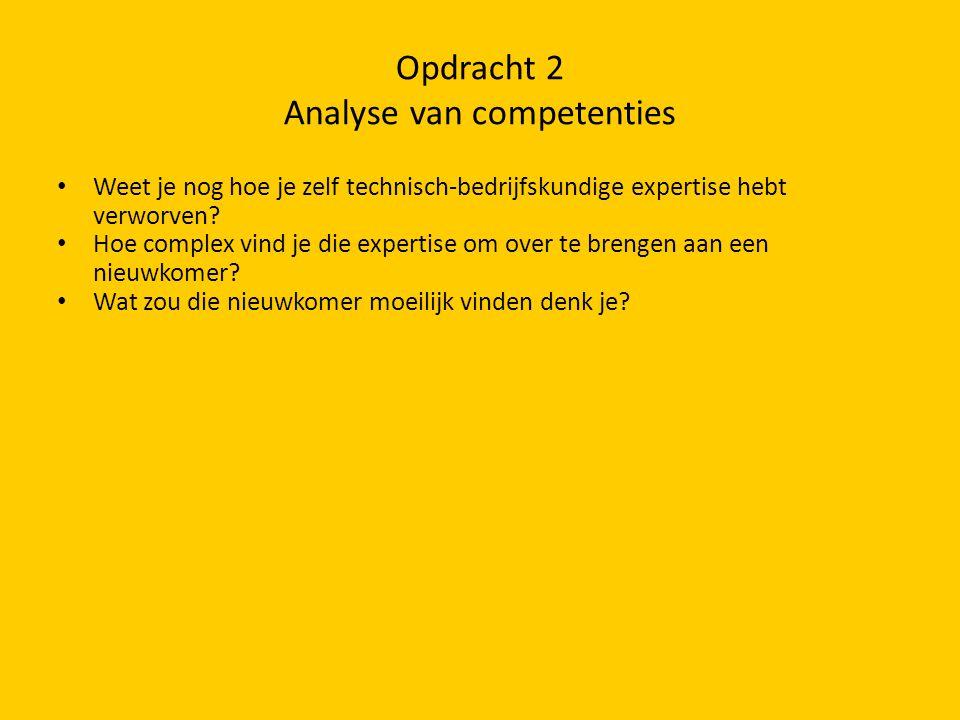 Opdracht 2 Analyse van competenties