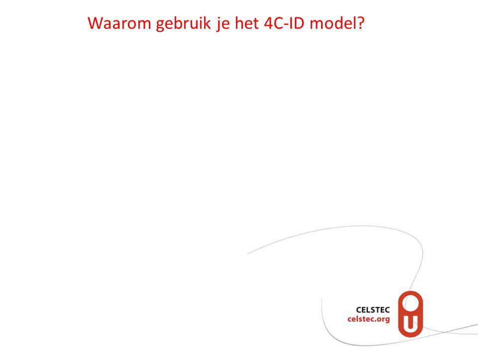 Waarom gebruik je het 4C-ID model