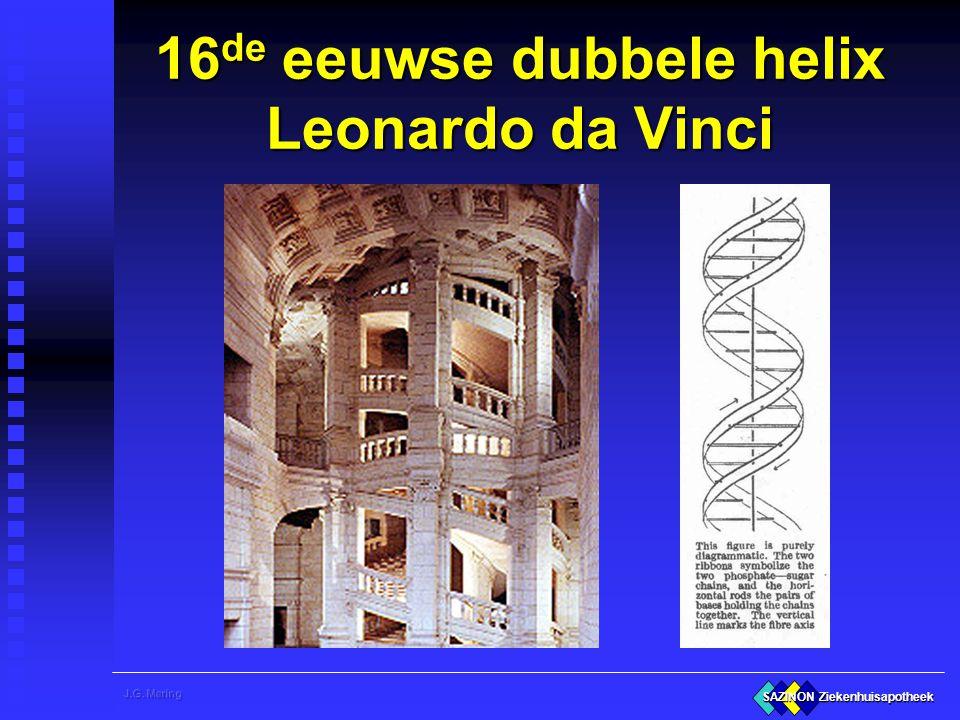 16de eeuwse dubbele helix Leonardo da Vinci