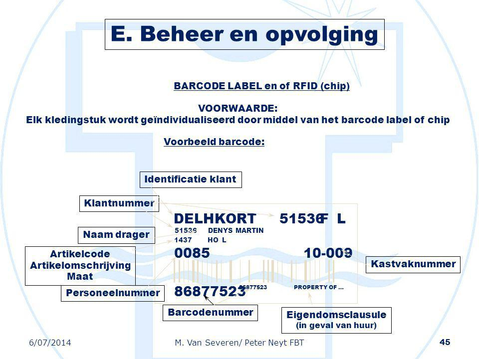 BARCODE LABEL en of RFID (chip)