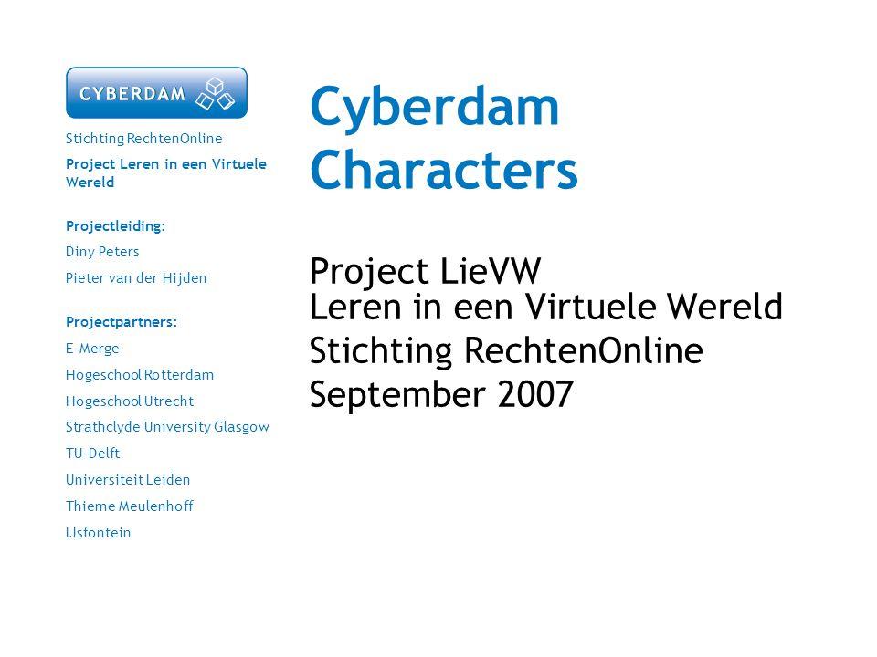 Cyberdam Characters Project LieVW Leren in een Virtuele Wereld