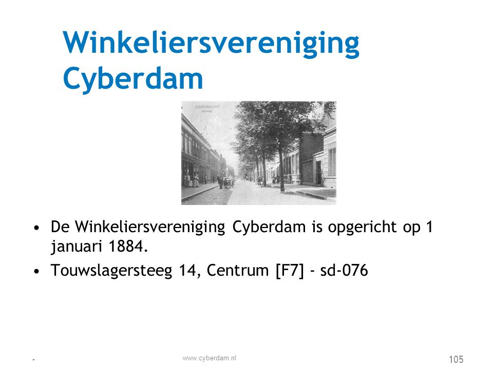 Winkeliersvereniging Cyberdam