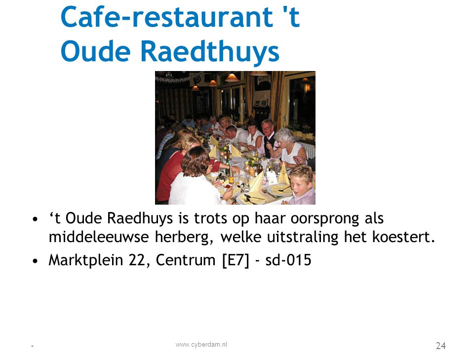 Cafe-restaurant t Oude Raedthuys