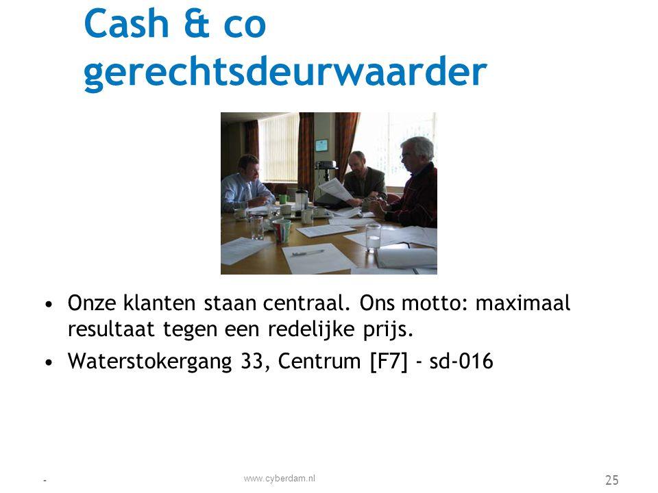 Cash & co gerechtsdeurwaarder