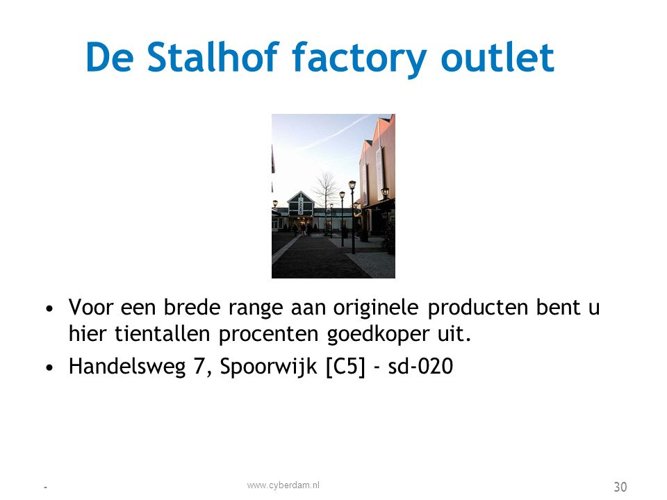 De Stalhof factory outlet