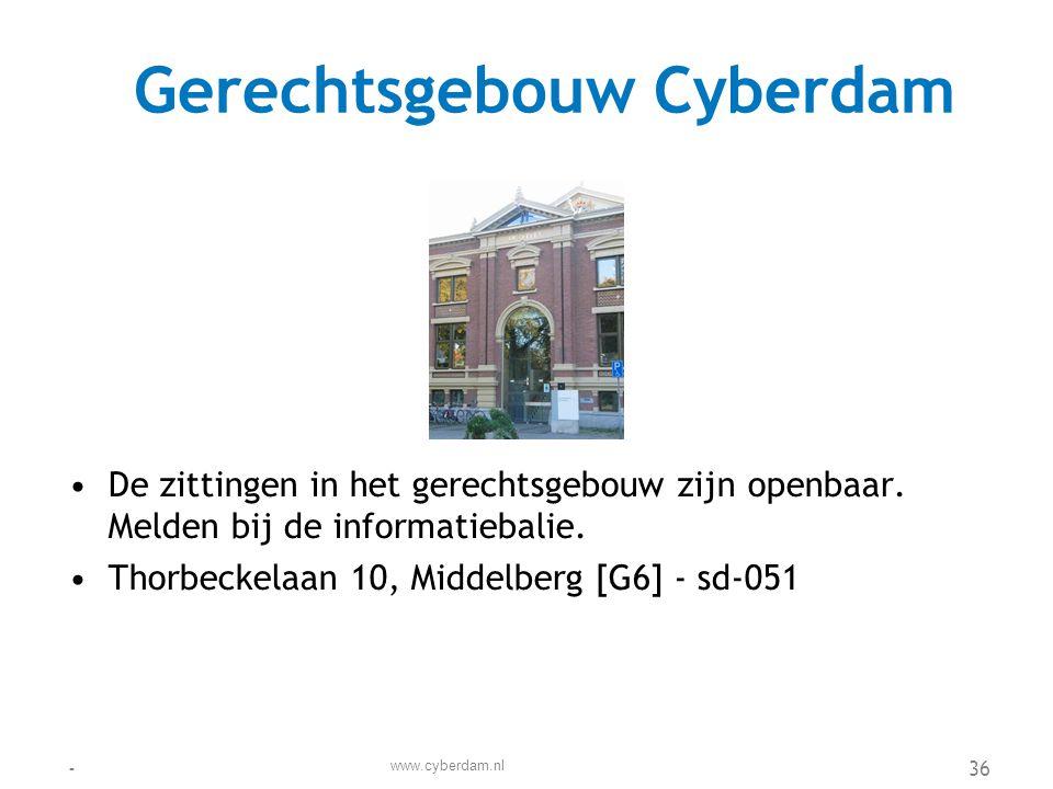 Gerechtsgebouw Cyberdam