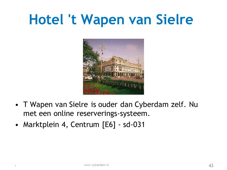 Hotel t Wapen van Sielre