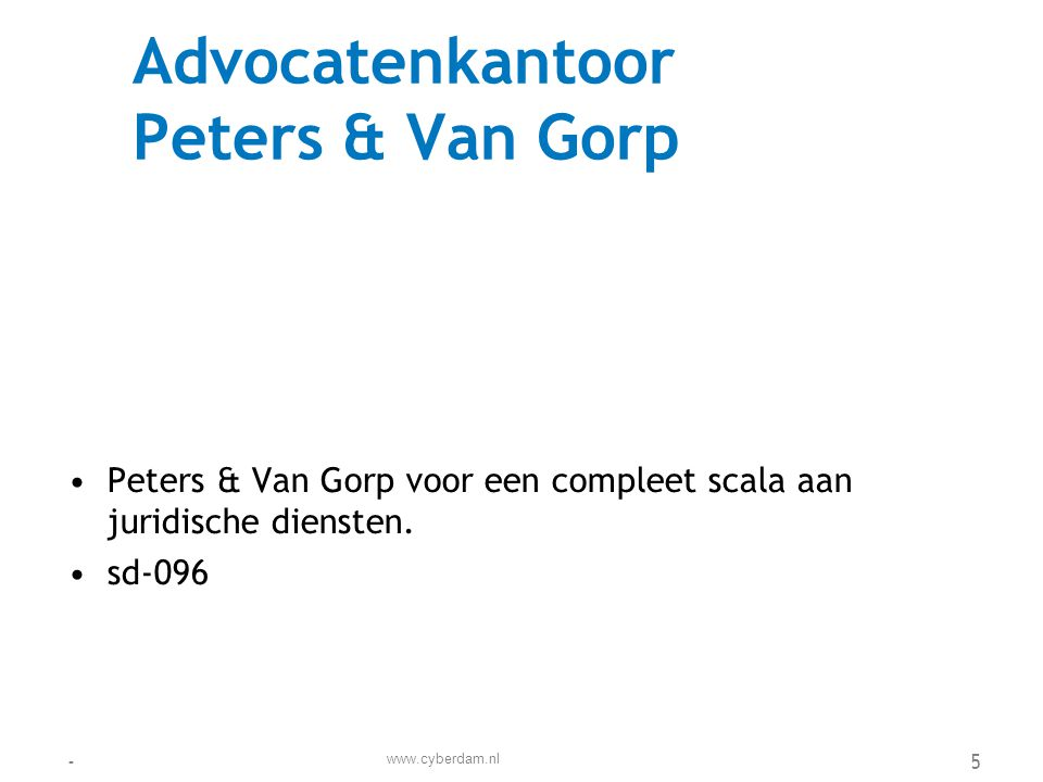 Advocatenkantoor Peters & Van Gorp