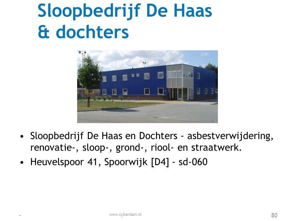 Sloopbedrijf De Haas & dochters