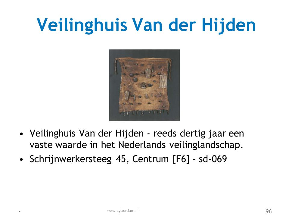 Veilinghuis Van der Hijden