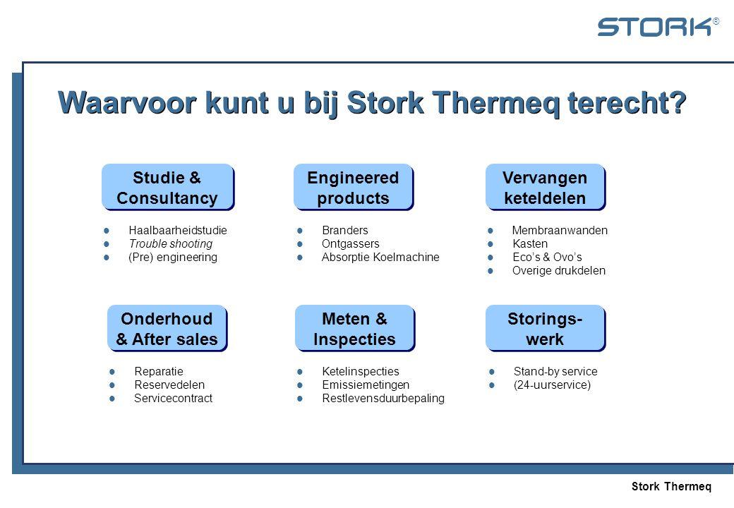 Waarvoor kunt u bij Stork Thermeq terecht