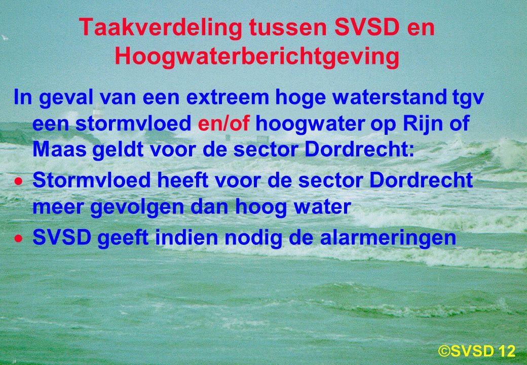 Taakverdeling tussen SVSD en Hoogwaterberichtgeving