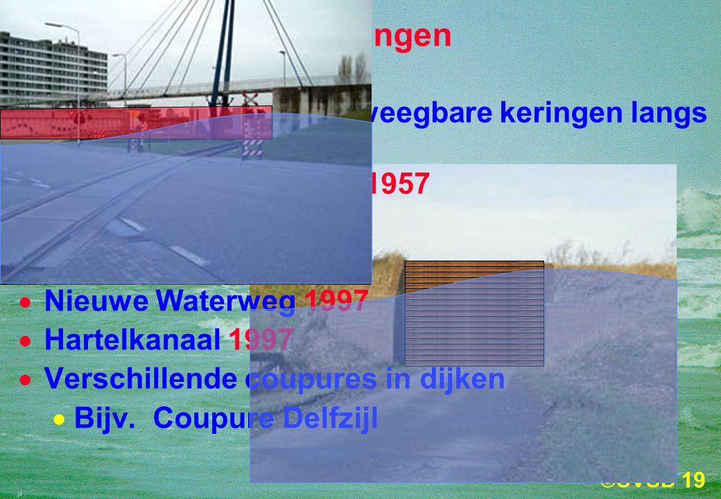Stormvloedkeringen Er zijn verschillende beweegbare keringen langs de Nederlandse kust: Krimpen aan de IJssel 1957.