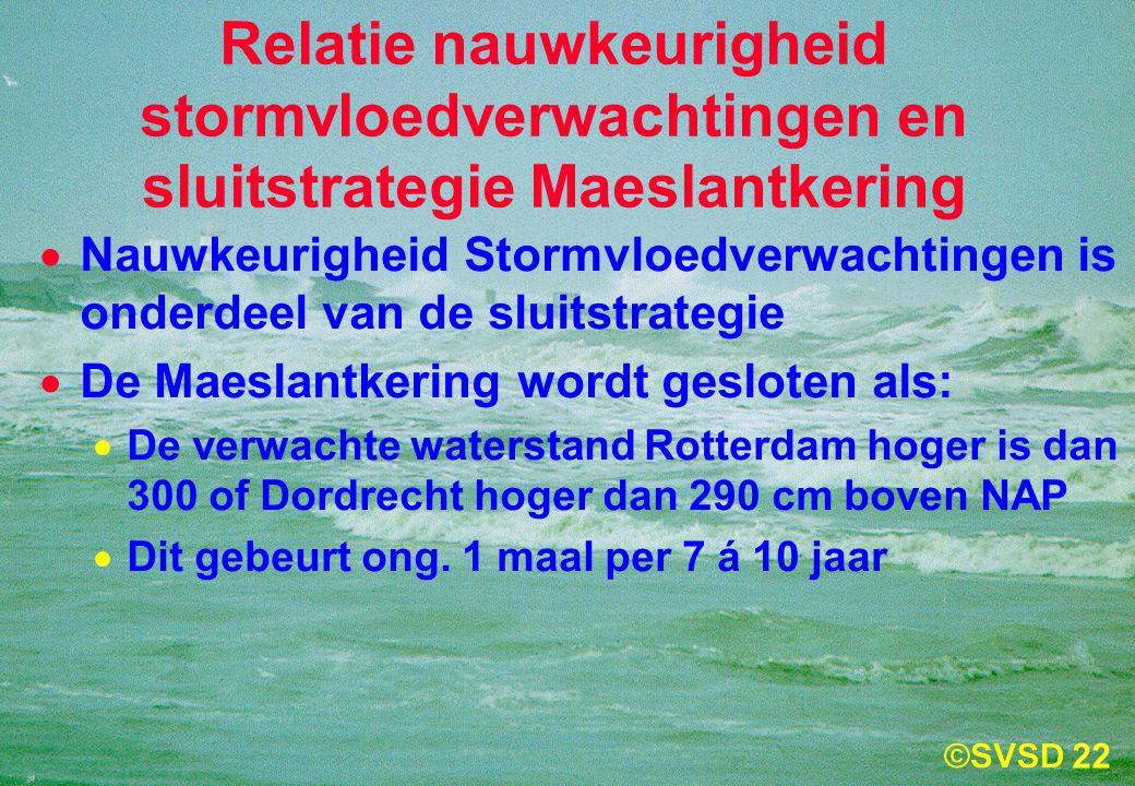 Relatie nauwkeurigheid stormvloedverwachtingen en sluitstrategie Maeslantkering
