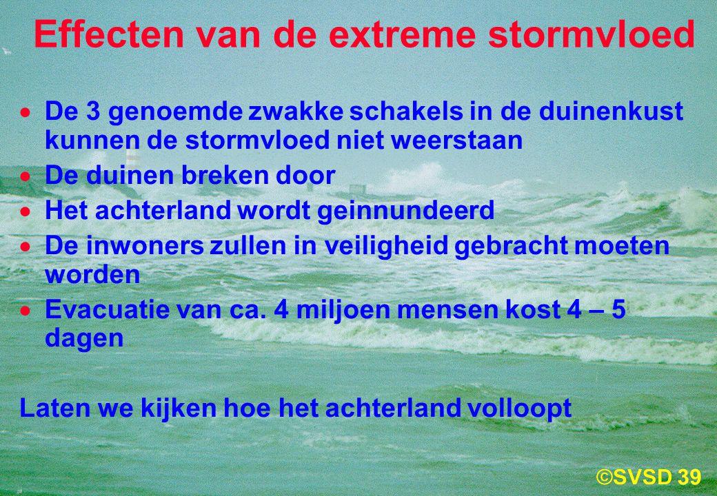 Effecten van de extreme stormvloed