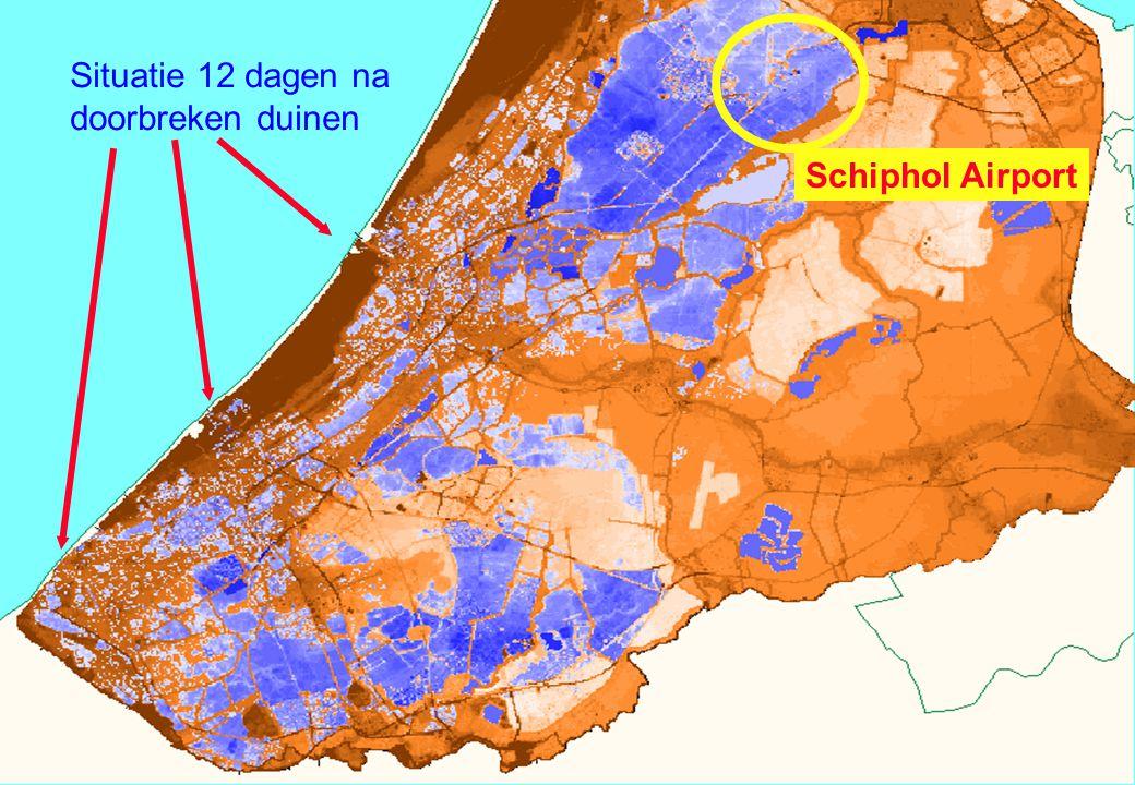 Situatie 12 dagen na doorbreken duinen Schiphol Airport