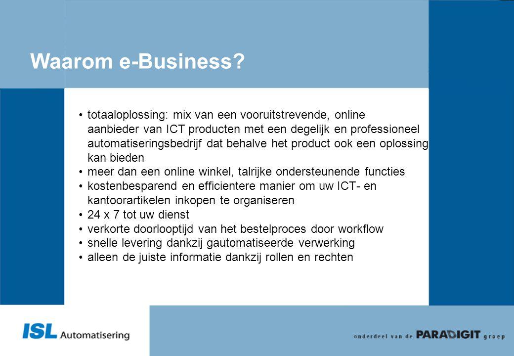 Waarom e-Business